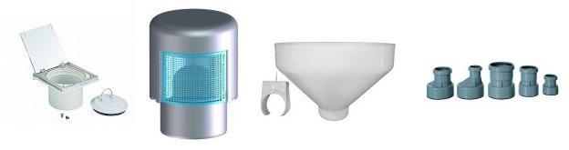 Комплектующие для канализации HL